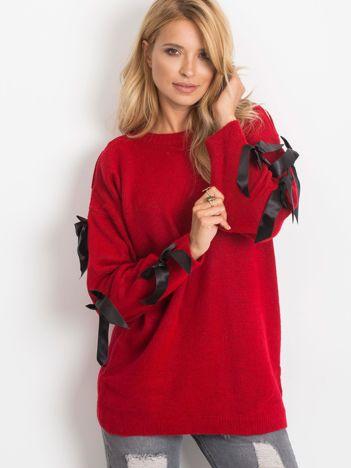 Ciemnoczerwony sweter Montana