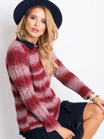 Ciemnoczerwony sweter Rave