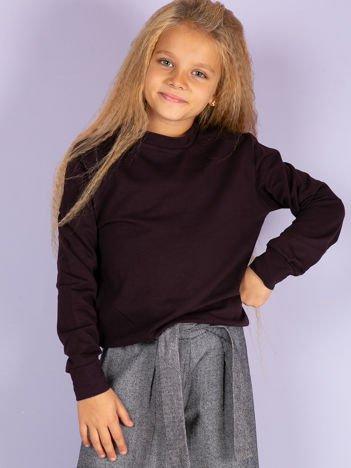 Ciemnofioletowa gładka bluza dziecięca