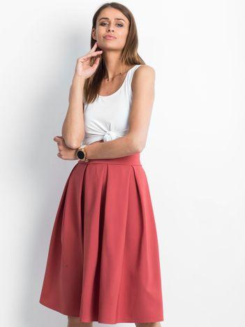Ciemnokoralowa spódnica Bucolic