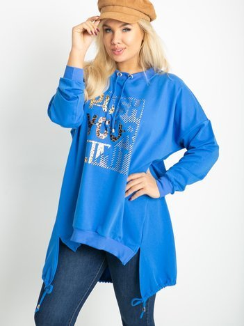 Ciemnoniebieska bluza plus size Totally