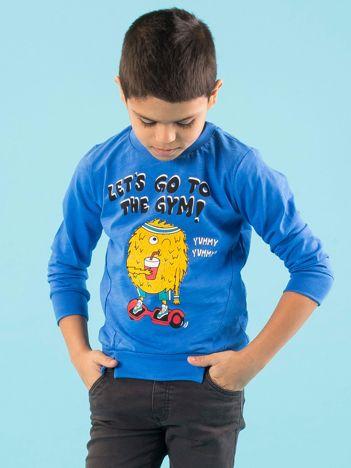 Ciemnoniebieska bluzka dla chłopca z bawełny