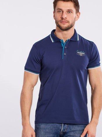 Ciemnoniebieska koszulka polo dla mężczyzny
