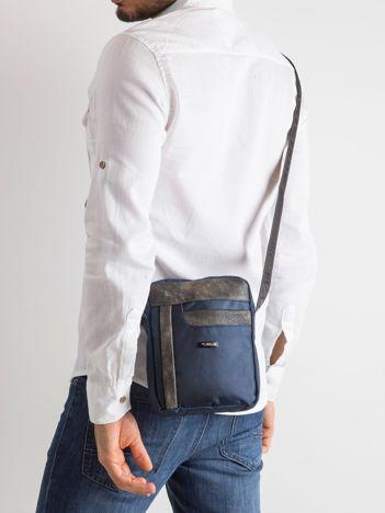 Ciemnoniebieska męska torba