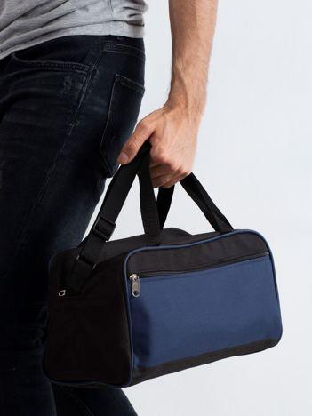 Ciemnoniebieska męska torba na ramię