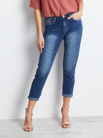 Ciemnoniebieskie jeansy Among
