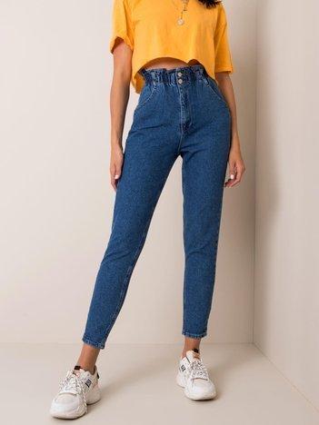 Ciemnoniebieskie jeansy Santiago RUE PARIS