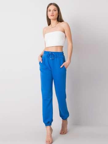 Ciemnoniebieskie spodnie Agueda RUE PARIS