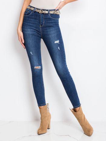 Ciemnoniebieskie spodnie Cassandra
