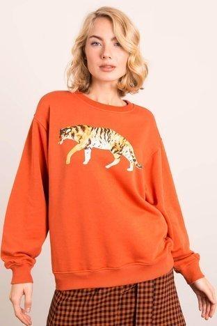 Ciemnopomarańczowa bluza BSL
