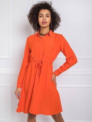 Ciemnopomarańczowa sukienka Claire RUE PARIS