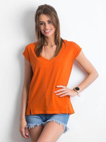 Ciemnopomarańczowy t-shirt Vibes