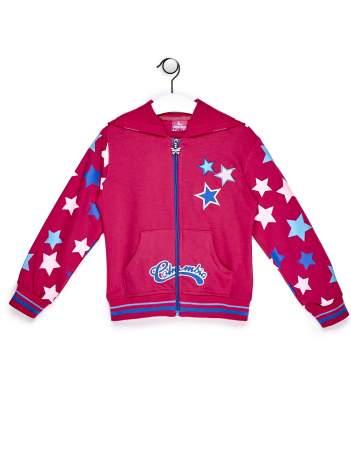 Ciemnoróżowa bluza dla dziewczynki w gwiazdki