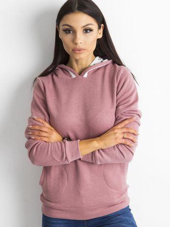 Ciemnoróżowa bluza z kieszeniami