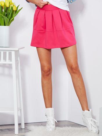 Ciemnoróżowa plisowana spódnica mini