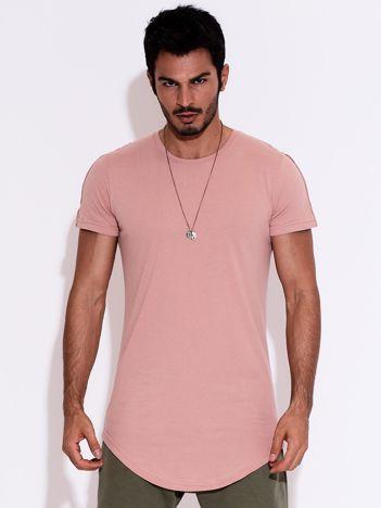 Ciemnoróżowy t-shirt męski basic