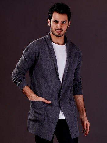 Ciemnoszara bluza męska z kieszeniami