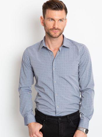 Ciemnoszara koszula męska Morgan