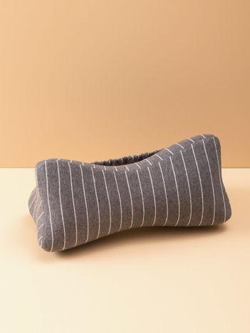 Ciemnoszara poduszka pod plecy