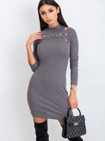 Ciemnoszara sukienka Diaz