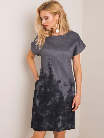 Ciemnoszara sukienka Palmer