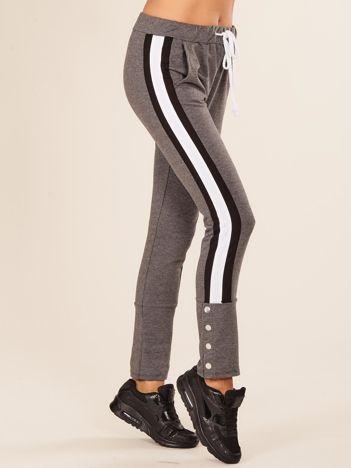 Ciemnoszare damskie dresowe spodnie