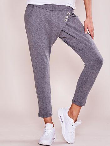 Ciemnoszare damskie spodnie dresowe