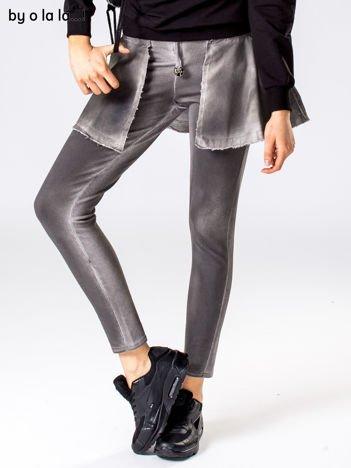 Ciemnoszare dekatyzowane spodnie dresowe BY O LA LA