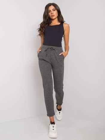 Ciemnoszare melanżowe spodnie dresowe damskie Shaila