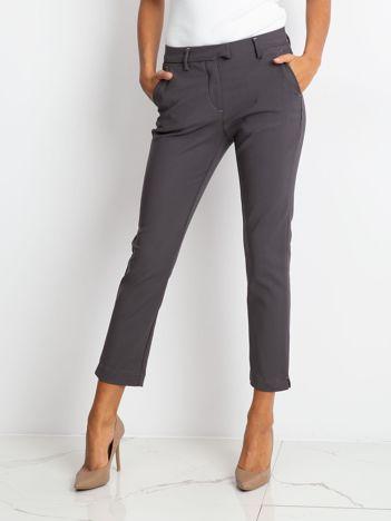 Ciemnoszare spodnie Classy
