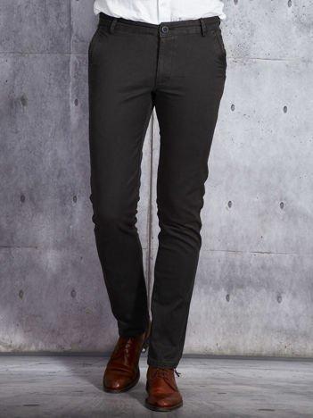 Ciemnoszare spodnie męskie o prostym kroju