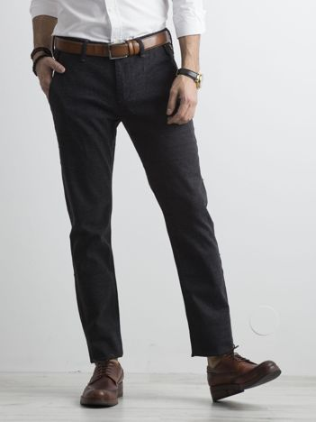 Ciemnoszare spodnie męskie regular