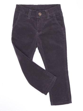 Ciemnoszare sztruksowe spodnie dla chłopca