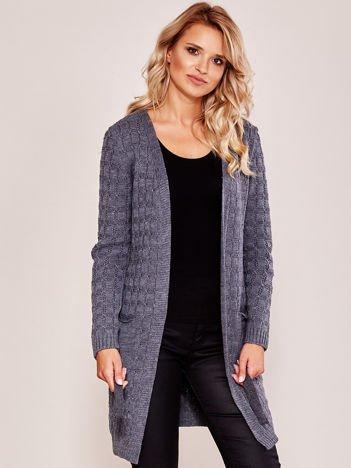 Ciemnoszary sweter z paskiem