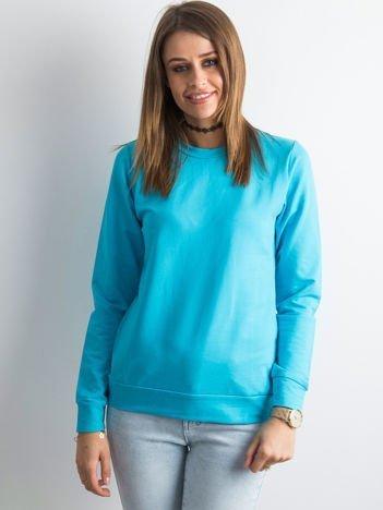 Ciemnoturkusowa bluza damska basic