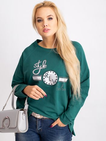 Ciemnozielona bluza plus size Style