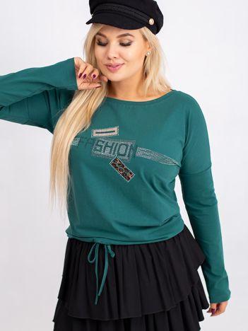Ciemnozielona bluzka plus size Disco