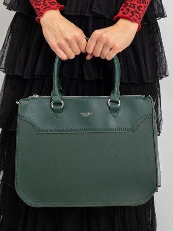 Ciemnozielona damska torba z ekoskóry