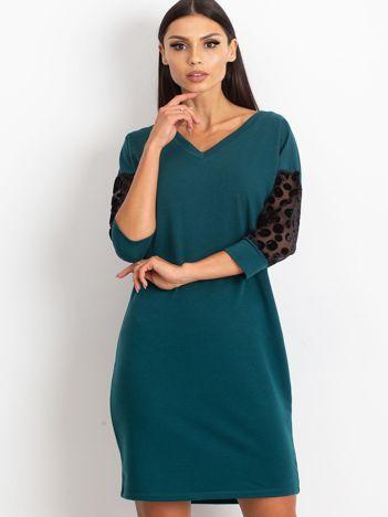 Ciemnozielona sukienka Stream