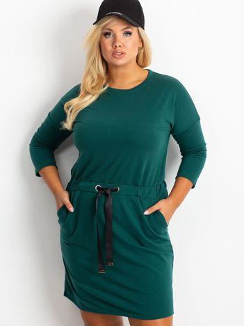 Ciemnozielona sukienka plus size Lyric