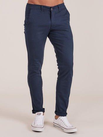 Ciemnozielone spodnie męskie chinosy