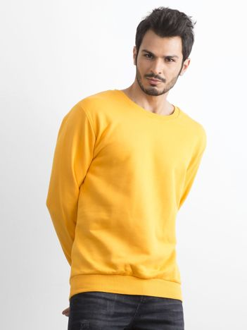 Ciemnożółta bawełniana bluza męska
