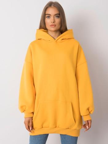 Ciemnożółta długa bluza kangurka Roselle