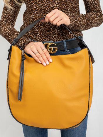 Ciemnożółta półokrągła torba