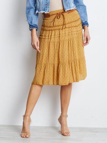 Ciemnożółta spódnica Charges