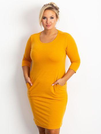 Ciemnożółta sukienka Travel