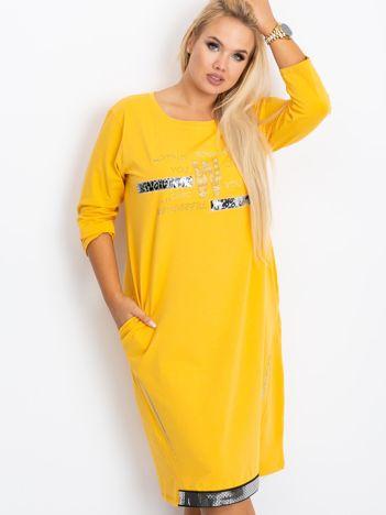 Ciemnożółta sukienka plus size Coast