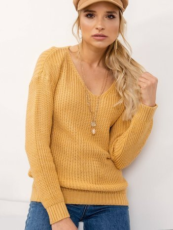 Ciemnożółty sweter Personal