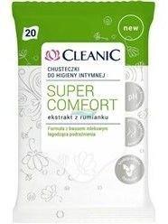 Cleanic Chusteczki do higieny intymnej Super Comfort  1op.- 20szt