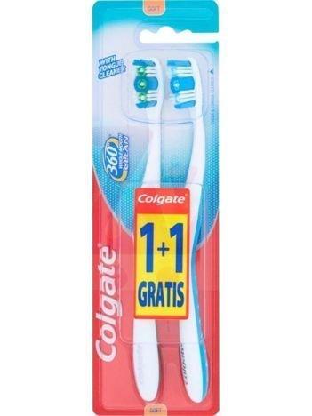 Colgate Szczoteczka do zębów 360° Whole Mouth Clean Miękka 1+1 gratis